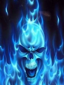 Flaming Blue Skull | CrackBerry.com
