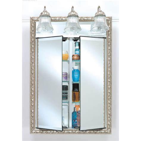 Bathroom Medicine Cabinets AF DDLT Lighted Double Door