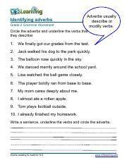 grammar worksheet grade 2 adverbs 2 pdf identifying