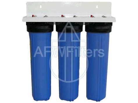 3 Stage Big Blue Whole House Water Filter. High Flow
