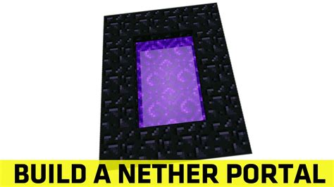 how to make a nether portal in minecraft pc ps4 how to build a minecraft nether portal by Nether