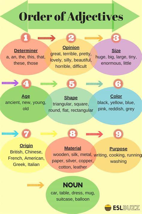 English Grammar Order Of Adjectives  Esl Buzz