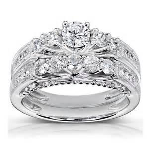 garnet wedding ring set antique wedding ring set jewelocean