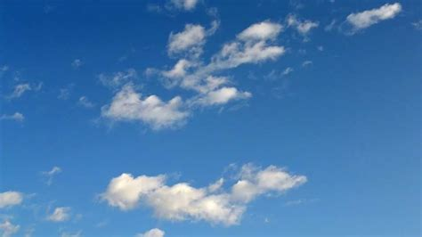 Bleu Sky by Blue Sky With Clouds Free Footage