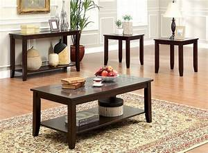 cm4669 townsend iii coffee table 2 end tables in dark cherry With townsend coffee table