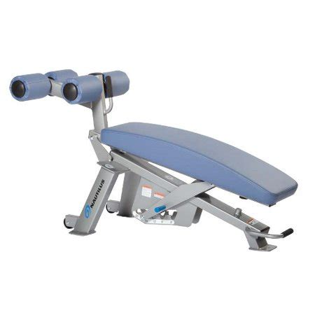 Nautilus Workout Bench by Nautilus Adjustable Abdominal Bench Walmart