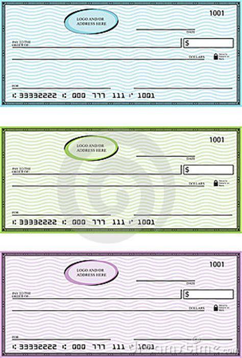 blank generic bank checks stock images image