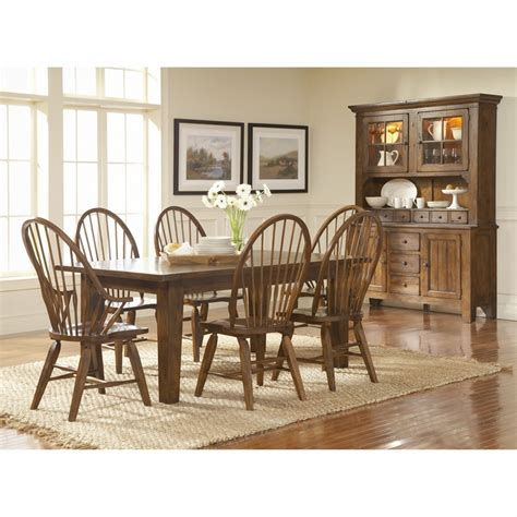 Broyhill Dining Room Furniture by Broyhill Attic Heirlooms Rustic Oak Finish Dining Room Set K