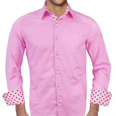 mens designer dress shirts mens pink valentines day dress shirts