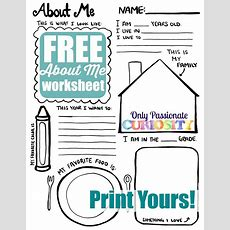 All About Me {back To School Printable}  Only Passionate Curiosity