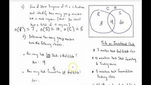 Set Theory Basic  Part 3  - Using Venn Diagrams In Word Problems  Part 1