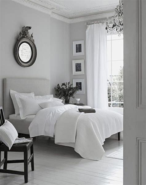 Gray And White Room Decor - peaceful grey white bedroom just decorate