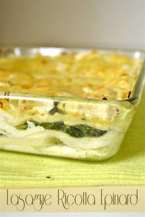 cuisine lasagne facile recette facile lasagne ricotta epinard cuisine