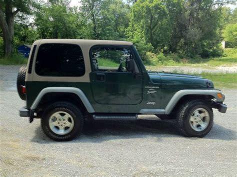dark green jeep find used 2001 jeep wrangler sport forest green dark