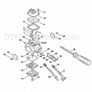 Stihl Ms 310 Chainsaw  Ms310  Parts Diagram  Carb  Hd