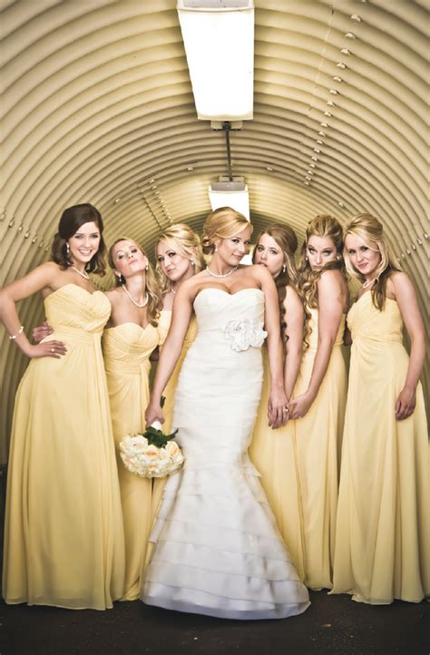 yellow  cream elegance wedding inspiration  pink bride