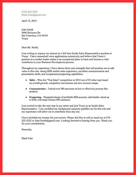 great cover letter a great cover letter resume format