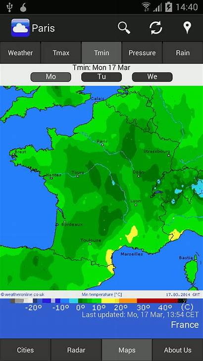 Weather Mobile Weatheronline Wetter Map Forecast London