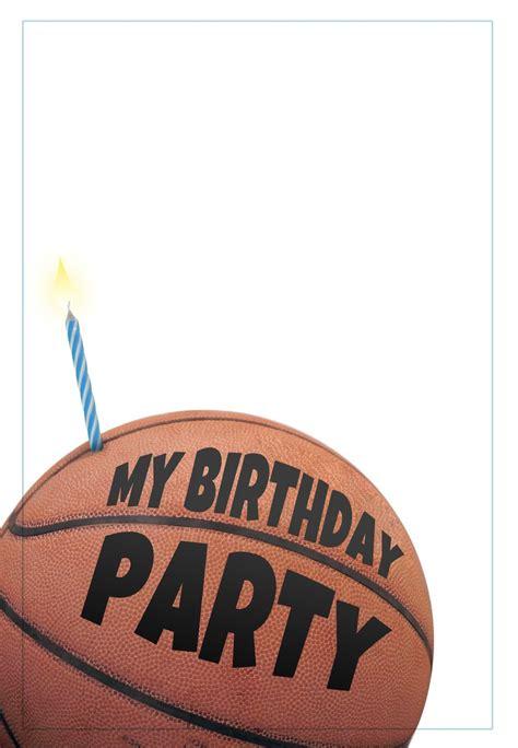 printable basketball invitation printable birthday