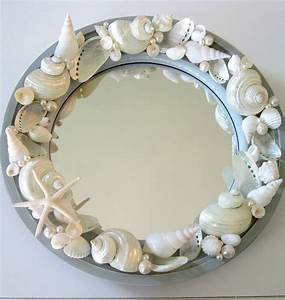 Beach decor seashell mirror nautical decor porthole for Seashell decor