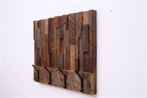 custom made reclaimed wood coat rack 24x18 5x4 by carpentercraig custommade com