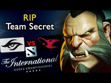 Team Secret Vs Mousesports  Madara Lycan  Dota 2 The