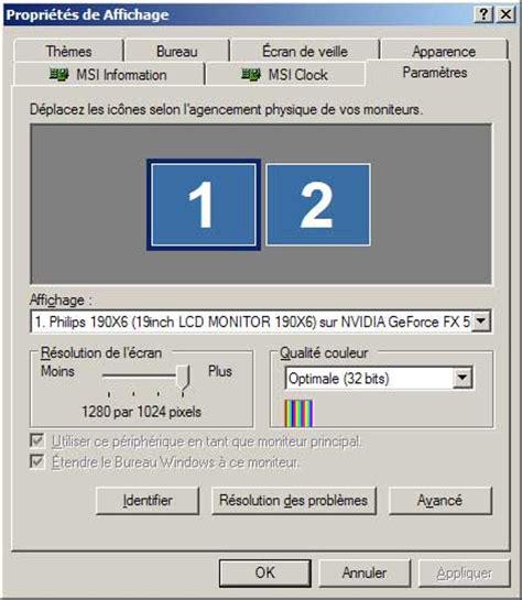 afficher bureau windows 7 comment afficher deux ecrans sous windows 7