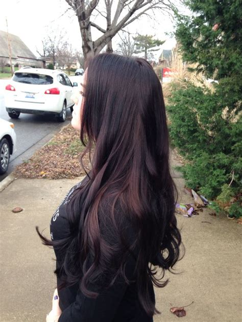 Brownish Black Hair Color by 21 Bold Black Cherry Hair Ideas To Embrace The Fall