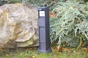 Gartensteckdose Ohne Zuleitung : steckdosens ule mit 2 steckdosen grafit schwarz von bega ~ Orissabook.com Haus und Dekorationen