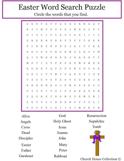 church house collection blog christian easter word search