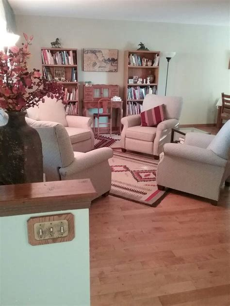 Living Room With Recliners by With An L Shaped Living Dining Room And Only A 12x18 Ft