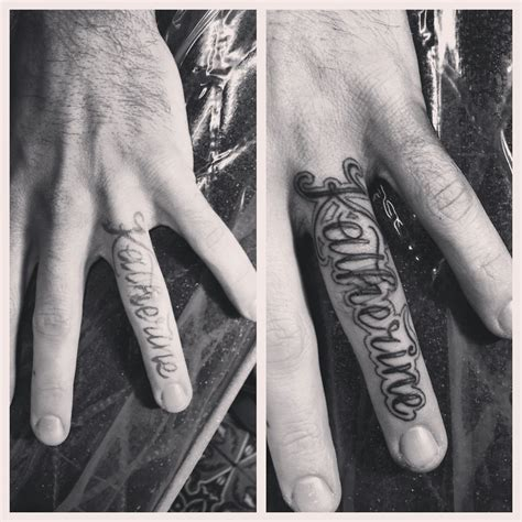 commitment finger tattoos wedding ring