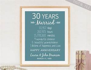 custom 30th anniversary gift sign for parents With 30th wedding anniversary gifts for parents