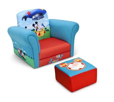 upholstered chair with ottoman delta children mickey mouse upholstered chair with ottoman