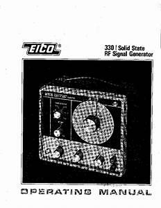 Eico 330 Rf Signal Generator Service Manual Download