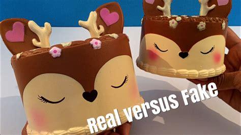 rendier cake silly squishies vergelijken met namaak