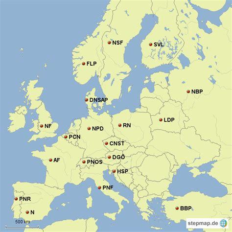 StepMap - Faschismus in Europa - Landkarte für Europa