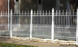 White Metal Decorative Fence