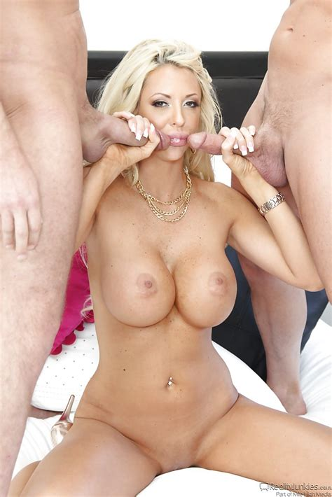 Buxom Blonde Milf Courtney Taylor Taking Cum In Mouth From