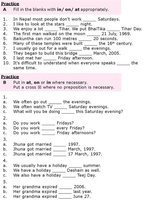 25 prepositions worksheets ideas on