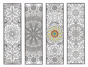 Printable Mandala Bookmarks Coloring Pages
