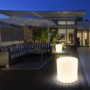 Terrassen Beleuchtung Außen : 2er set balkon hocker au en beleuchtungen veranda steh stand leuchten sitzw rfel ebay ~ Sanjose-hotels-ca.com Haus und Dekorationen