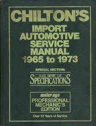 chiltons import auto service manual