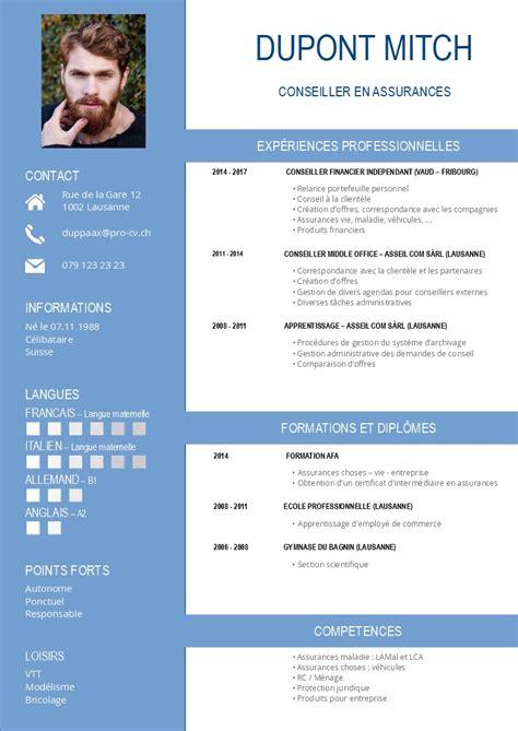 Modele Des Cv by Nos Mod 232 Les De Cv Pro Cv
