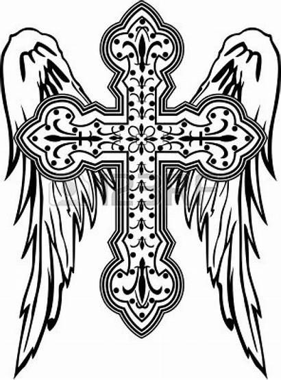 Cross Catholic Clipart Vector Clip Illustration Roman