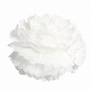 Papier De Soie Blanc : pompon en papier de soie 30cm blanc ~ Farleysfitness.com Idées de Décoration