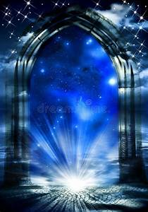 12 Rays Of Light Mystical Gate Of Dreams Stock Illustration Illustration