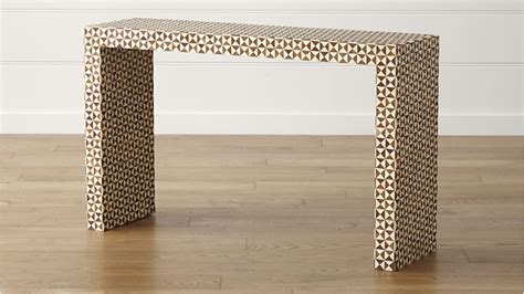 furniture table ls intarsia console table crate and barrel
