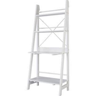 ladder shelf desk white buy ladder bookcase office desk white at argos co uk
