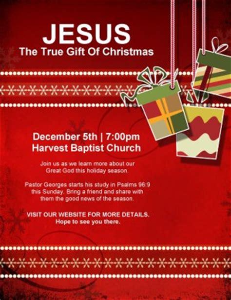 christmas gift church flyer template flyer templates